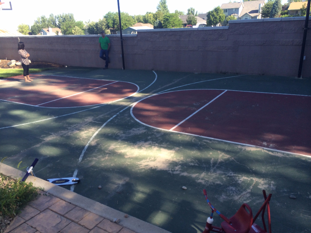 basketball court repair utah parkin tennis courts
